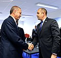 President Rumen Radev heads the Bulgarian delegation to the Meeting of the Heads of State and Government of the NATO Member States in Brussels 2018 19.jpg