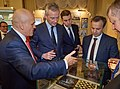 President of the Russian Chess Federation Andrey Filatov, France's Minister of the Economy and Finance Bruno Le Maire and Deputy Prime Minister of the Russian Federation Arkady Dvorkovich at the Russian Chess Museum in Moscow.jpg