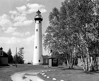 New Presque Isle Light lighthouse in Michigan, United States