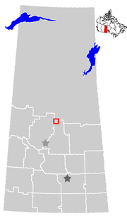 Location of Prince Albert in Saskatchewan
