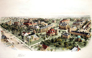 Princeton University - A Birds-eye view of campus in 1906