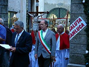 Magasa, Lombardy - 2007. Ermenegildo Venturini ex mayor of municipality of Magasa