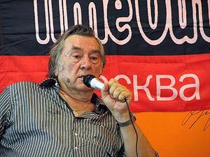 Alexander Prokhanov - Prokhanov on 14 June 2007, presenting the book Beyond the Rublyovka Fences.