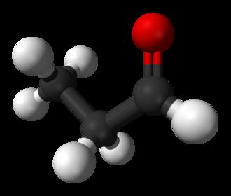 Propionaldehyde - Image: Propionaldehyde 3D balls