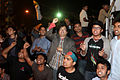 Protesters at Shahbag slogan & People.JPG