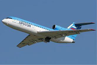 Lokomotiv Yaroslavl plane crash - The Yakovlev Yak-42D involved in the accident in 2006