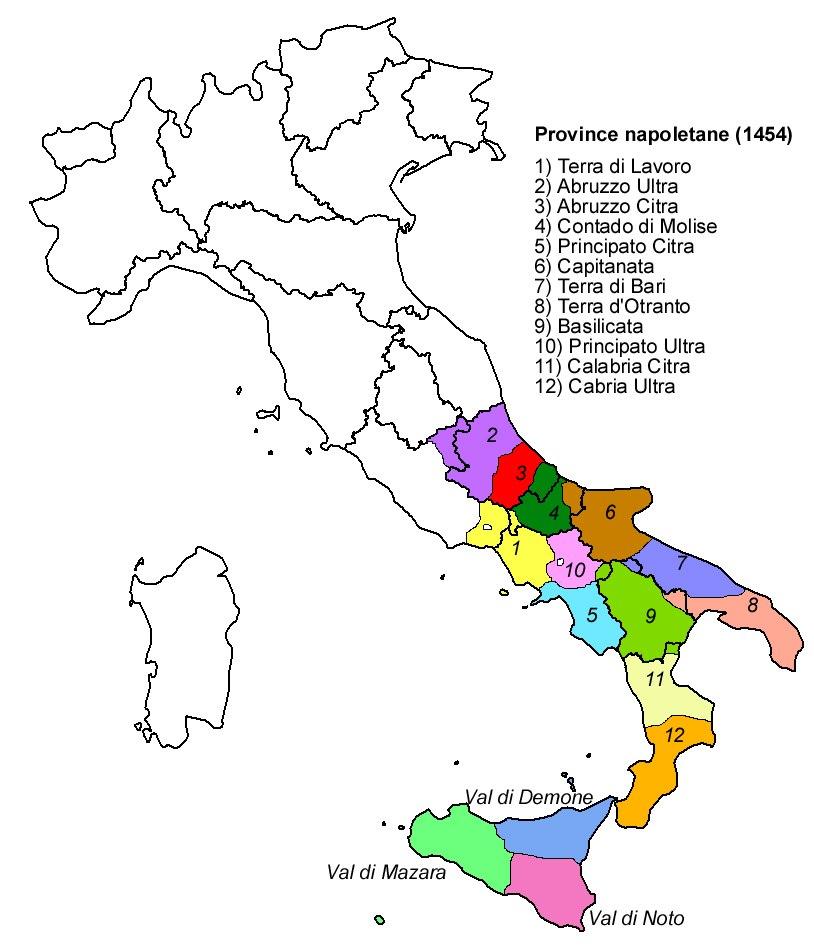 Province Due Sicilie 1454