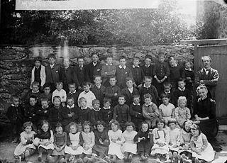 Pupils, Llanegryn school (1890)