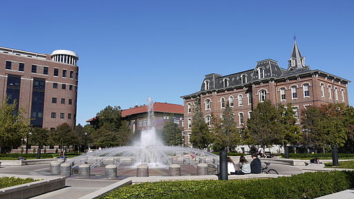 Purdue University Liberal Arts fountain