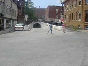 East Side Trolley Tunnel - The eastern entrance to the tunnel on Thayer Street