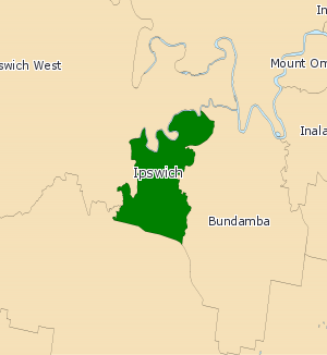 Electoral district of Ipswich - 2008 Electoral Map