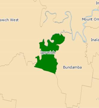 Electoral district of Ipswich - 2008 Electoral Map