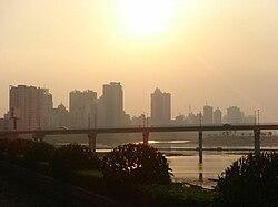 Qingyuan City Xiaoshi Skyline Guangdong Province.JPG