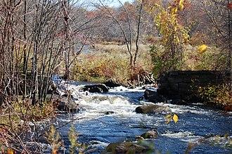 Quaboag River - Broken dam on the Quaboag River
