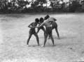 Queensland State Archives 1642 Teachers Training College mens physical education Brisbane April 1951.png
