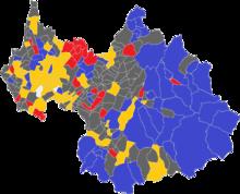 Carte des communes de la Savoie par candidat arrivé en tête à l'issue du premier tour des élections présidentielles de 2017