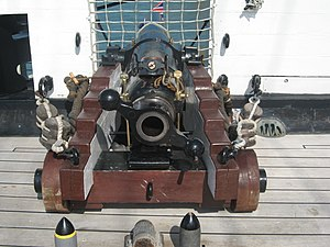 RBL 40 pounder Armstrong gun - 35 cwt broadside gun on HMS ''Warrior''