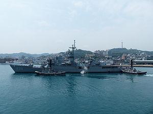 USS Valdez (FF-1096) - Yi Yang (FF-939) in 2014.