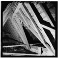 ROOF FRAME, EAST SLOPE, DETAIL SHOWING VALLEY RAFTERS FOR PORCH TOWER - Cedar Park, Cumberstone Road on West River, Cumberstone, Anne Arundel County, MD HABS MD,2-CUMB.V,1-19.tif