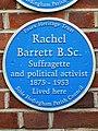 Rachel Barrett B.Sc. Suffragette and political activist 1875 - 1953 Lived here.jpg