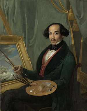 Raden Saleh - Raden Saleh, c. 1840, credited to Friedrich Carl Albert Schreuel