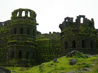Raigad Fort building in India