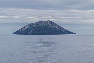Raikoke - Raikoke Island as seen from the Golovnin Strait