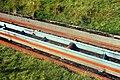 Rails in Loch Leathan Dam in summer 2012 (2).JPG