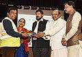 Ramdas Athawale along with the Chairman, National Commission for Safai Karamcharis (NCSK), Shri Manhar Valjibhai Zala distributing the Safety Kits to Safai Karamcharis (1).JPG