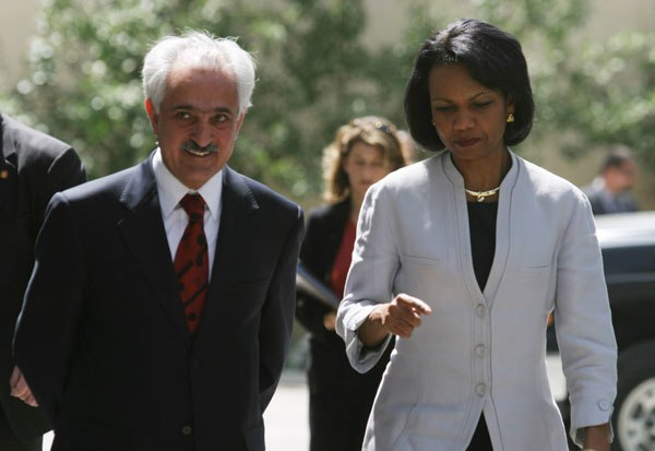 Rangin Dadfar Spanta et Condoleezza Rice