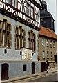 Rathaus - Rat der Stadt,with Leistungsvergeichtafel, Harzgerode, Harz, DDR. Aug 1989 (5375811125).jpg