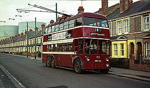 Reading Buses - Trolleybus in Newtown in 1965