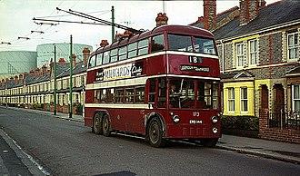 Reading Buses - Trolleybus in Newtown in 1965