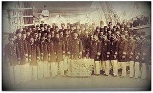 Ottoman frigate Ertuğrul - The crew of Frigate Ertuğrul, Middle: Rear Admiral Ali Osman Pasha