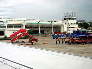 Agartala Airport - The terminal as viewed from the apron