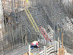 Rebar for foundations and walls of sewage pump station.