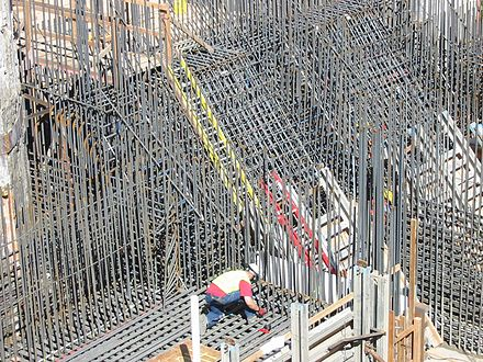 Rebar in walls and foundation image
