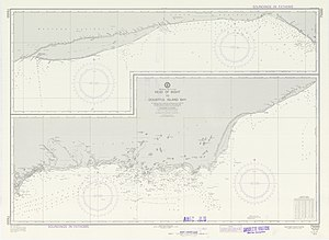 Recherche Archipelago - Nautical Chart showing the archipelago