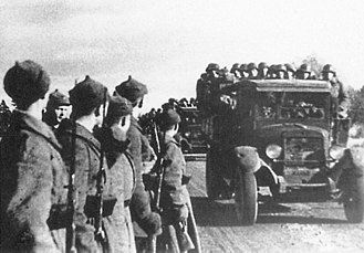 Estonia in World War II - The Red Army entering Estonia in 1939 after Estonia had been forced to sign the Bases Treaty