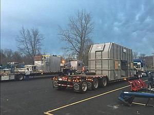 Industry - Optimized logistics have enabled the rapid development of industry. Here is a thermal oxidizer during the industrial shipping process.