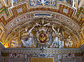 Relief of CoA of Pope Gregorius XIII, Gallery of the geographic maps, part of the ceiling, Vatican City 2.jpg