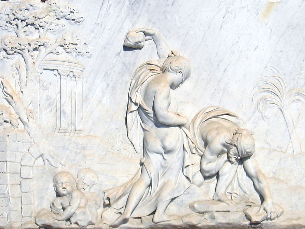 Relief of Deucalion and Pyrrha - Parc del Laberint d'Horta - Barcelona.jpg