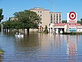 Residents boat down a main street in Munster, IN.jpg