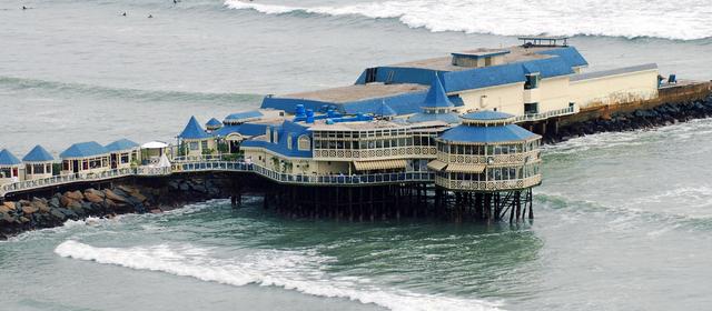 Reštaurácia s výhľadom Lima, Peru