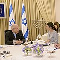 Reuven Rivlin opened the consultations after the 2015 elections with the HaBayit HaYehudi (2)shaked1.jpg
