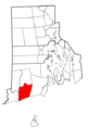 Rhode Island Municipalities Charlestown Highlighted.png