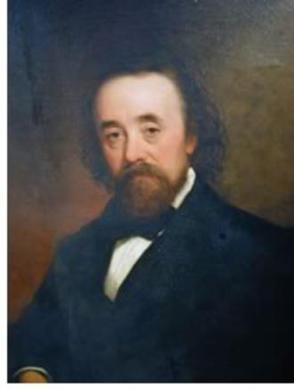 Richard Upjohn - Upjohn oil portrait circa 1870