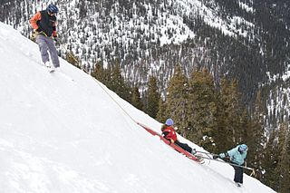 Mountain rescue search and rescue activities that occur in a mountainous environment