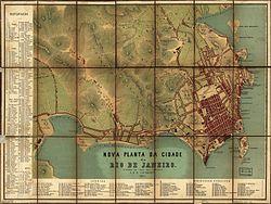 Planta da cidade do Rio de Janeiro em 1867.