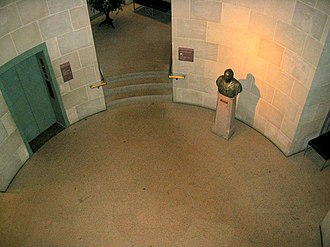 S. Dillon Ripley Center - The interior of the museum is a small, round area that descends for several stories.